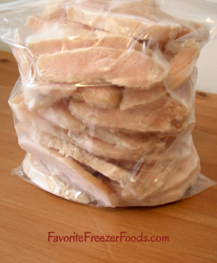 Freeze chicken to save time and money. What better way to stock your freezer with meal starters for dinner on busy nights.