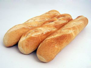 Baguettes freezing bread