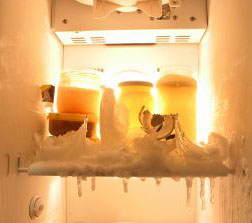 Time to defrost the freezer.