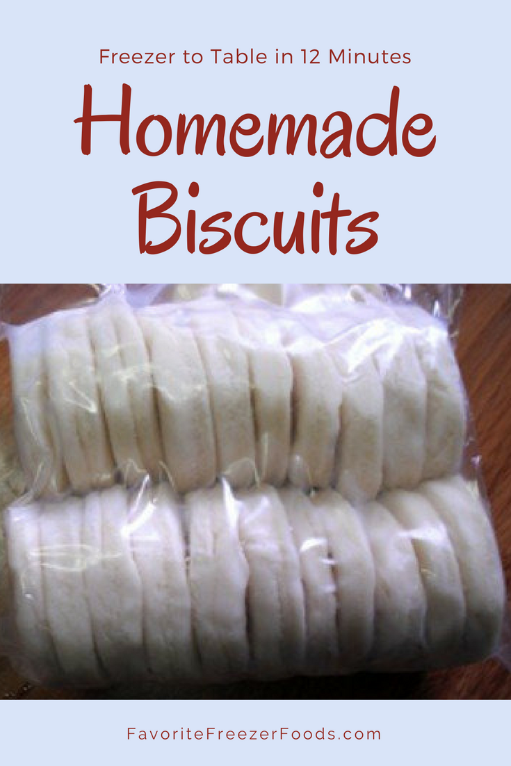 Homemade Biscuits! From the the freezer to the table in 12 minutes.