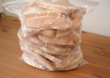 frozen sliced chicken breasts