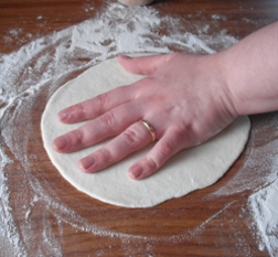 how to roll dough, turning the dough