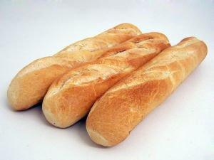 Baguettes freezing bread